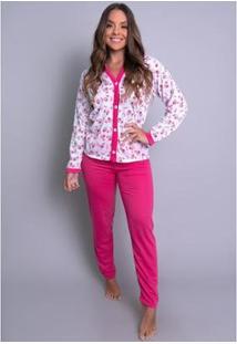 Pijama Mvb Modas Aberto - Feminino-Rosa