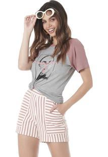 Camiseta Serinah Brand Estampada Meow
