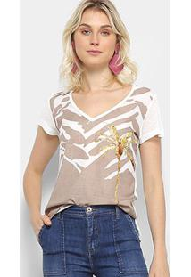Camiseta Acostamento Coqueiro Feminina - Feminino
