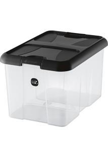 Caixa Organizadora Plus Preta 22 L