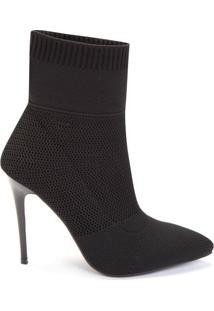 Bota Sock Boot Cano Curto Canelado