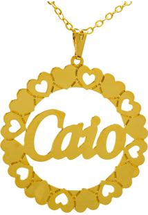 Gargantilha Horus Import Mandala Caio Banho Ouro Amarelo 18 K - 1060036 - Dourado - Feminino - Dafiti