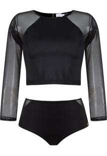 Brigitte Top Cropped E Hot Pants - Preto