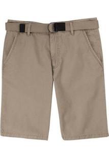 Bermuda Slim Com Cinto Masculina - Masculino-Marrom