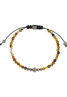 Northskull Pulseira Lionskin Mini Com Contas - Amarelo