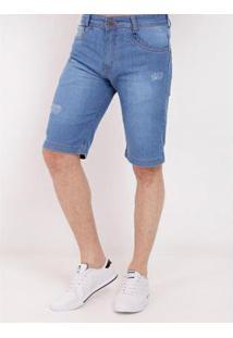 Bermuda Jeans Vels Masculina - Masculino-Azul