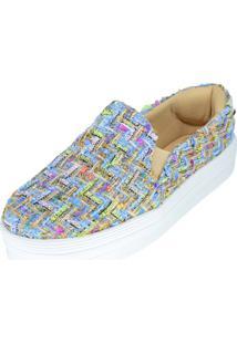 Tenis Hope Shoes Slipper Tresse Azul