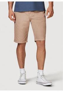 Bermuda Slim Tecido Com Cinto Masculina - Masculino-Bege