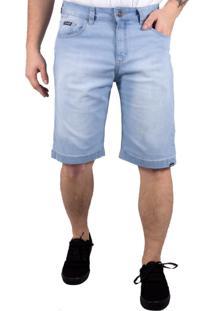 Bermuda Jeans Alfa Doing Bolso Antifurto Azul Claro - Azul - Masculino - Dafiti