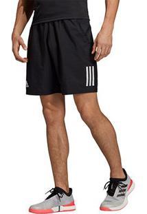 Short Adidas Club 3 Stripes Masculino - Masculino-Preto+Branco