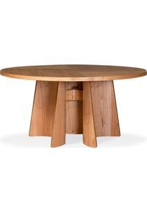 Mesa De Jantar Well Redonda Madeira Maciça Design Clássico Avi Móveis