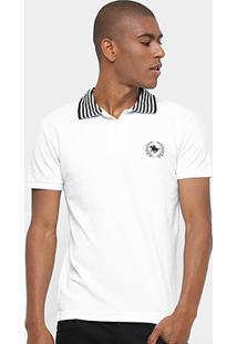 47c7674cf2112 Camisa Polo Rg 518 Piquet Bordada Masculina - Masculino-Branco