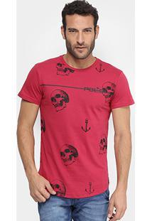cdab145f4 Camiseta Rg 518 Caveiras E Âncoras Masculina - Masculino
