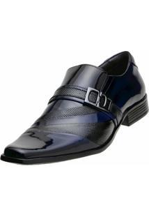Sapato Social Gofer Verniz Azul