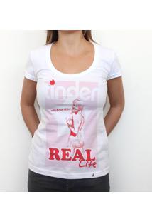 Tinder - Camiseta Clássica Feminina