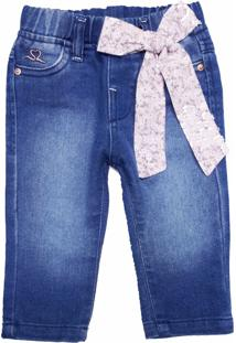 Calça Jeans De Moletom Amiguinha Azul - Kanui