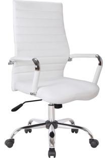 Cadeira De Escritório Diretor Giratória Cleaner Branca
