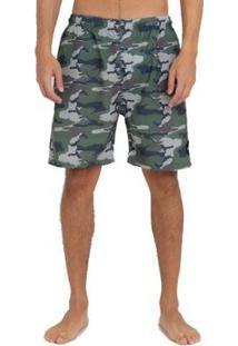 Bermuda Rvca Boardshort Army Masculina - Masculino-Verde