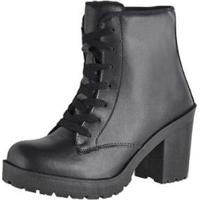 508b738227 Bota Coturno Cr Shoes Napa Feminina - Feminino-Preto