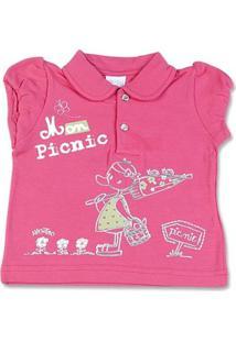 Camiseta Bebê Cotton Mon Picnic - Feminino-Pink
