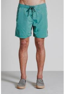 Bermudas Armadillo Boardshort Stone Pigmento Storm Masculino - Masculino-Verde