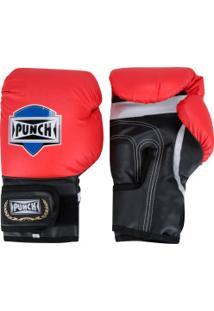 Luvas De Boxe Punch Amador - 14 Oz - Adulto - Vermelho