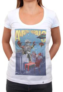 Yoshipi Battles The Bird Robots - Camiseta Clássica Feminina