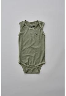 Body Bebê Reserva Mini Liso Masculino - Masculino-Verde Militar