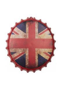Enfeite Decorativo Tampa Plástico Vermelho Inglaterra 40X40