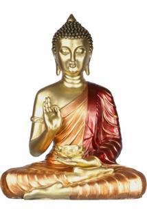 Buda Tailandês Em Resina C/ Porta-Vela
