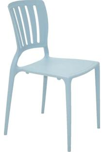 Cadeira Com Encosto Vazado Sofia Summa Azul