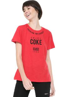 Camiseta Coca-Cola Jeans Fashion Influencer Vermelha