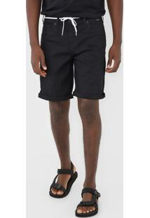 Bermuda Jeans Hurley Slim Poly Preta
