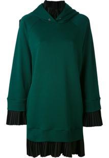 Mm6 Maison Margiela Vestido De Moletom Com Sobreposição - Green