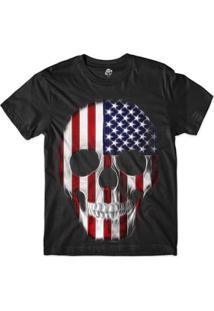 ce5a7013b6 Camiseta Bsc Caveira Maniaca Eua Sublimada - Masculino-Preto