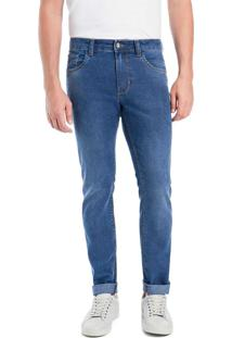 Calça Jeans Slim Com Elastano
