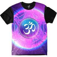 Camiseta Long Beach Ohm Moldura Redonda Sublimada - Masculino-Lilás+Roxo 3438bde64b1ab