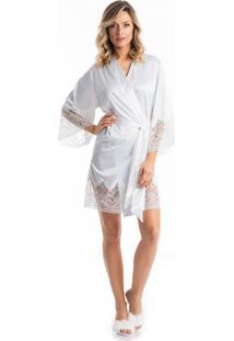 7cd8fcf78eddfd Robe Noiva C/ Renda Branco/Gg