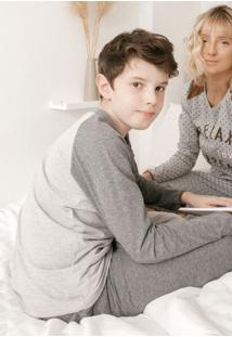 Pijama Manga Longa Para Meninos 66383 Cor Com Amor