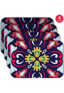 Jogo Americano Love Decor Wevans Mandala Colorful Kit Com 4 Pçs