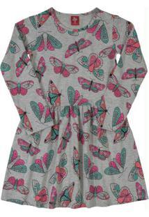 Vestido De Inverno Infantil Cinza