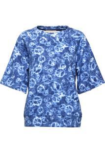 Camiseta Michael Kors Elv Ss Peace Azul