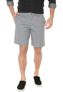 Bermuda Banana Republic Chino Slim Stretch-Cotton Cinza