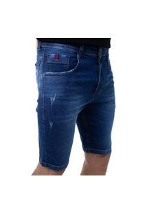 Bermuda Jeans Masculina Confort Crocker - 48227