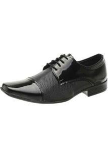 Sapato Social Dhl Calçados Masculino - Masculino-Preto