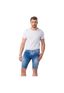 Bermuda Skinny Zune Jeans Masculina Básica Casual Dia A Dia Azul 36 Azul