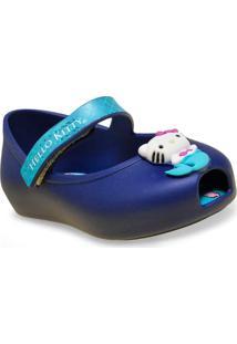f1c6180aa0 Sapatilha Fem Infantil Grendene 21480 Hello Kitty Criaturas Magicas Azul  Opaco