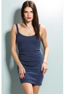 Mini Vestido De Alça (Marinho)