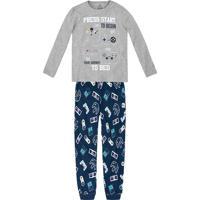 13123a8d4c Hering. Pijama Infantil Menino Com Estampa Brilha No Escuro ...