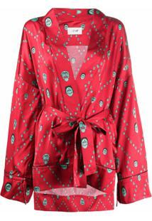 Kirin Kimono Com Amarração - Vermelho